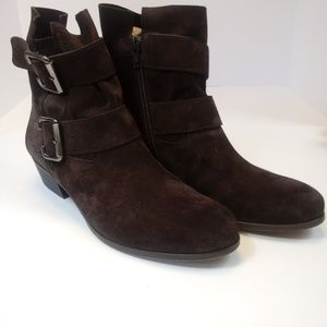 Paul Green brown suede moto ankle boots US SZ 5.5